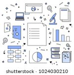 reference sources for academic... | Shutterstock .eps vector #1024030210