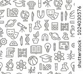 seamless pattern with school... | Shutterstock .eps vector #1024030576