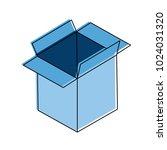 cardboard box open | Shutterstock .eps vector #1024031320