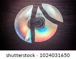 broken cd  dvd | Shutterstock . vector #1024031650