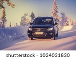 ivalo  finland   february 4 ... | Shutterstock . vector #1024031830