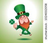 saint patrick's day concept... | Shutterstock .eps vector #1024032058