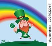 saint patrick's day concept... | Shutterstock .eps vector #1024032064
