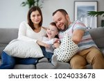 image of happy pregnant woman ...   Shutterstock . vector #1024033678