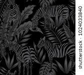 wild animals vector zebra...   Shutterstock .eps vector #1024033840