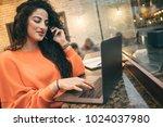 beautiful business woman... | Shutterstock . vector #1024037980