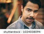 portrait on young arabic man... | Shutterstock . vector #1024038094