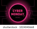 cyber monday sale poster or... | Shutterstock .eps vector #1024040668