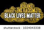 black lives matter word cloud... | Shutterstock .eps vector #1024043338