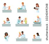 pediatrician doctors doing... | Shutterstock .eps vector #1024049248
