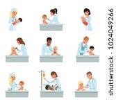 pediatrician doctors doing...   Shutterstock .eps vector #1024049266