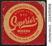 vintage biker graphics and... | Shutterstock .eps vector #1024050808