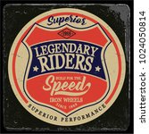 vintage biker graphics and... | Shutterstock .eps vector #1024050814