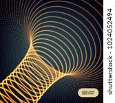 abstract tunnel grid.... | Shutterstock .eps vector #1024052494
