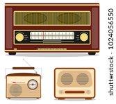 retro radio  retro radio set.... | Shutterstock .eps vector #1024056550