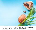 tropical paradise concept  big...   Shutterstock . vector #1024062370
