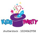 kids party. colorful logo.... | Shutterstock .eps vector #1024062958