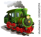 vector railway locomotive....   Shutterstock .eps vector #1024069294