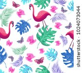 colorful raster pattern with... | Shutterstock . vector #1024073044