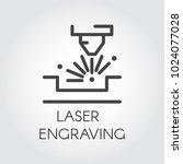 machine for laser engraving... | Shutterstock .eps vector #1024077028