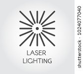 laser lighting icon drawing in...