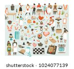 hand drawn vector abstract... | Shutterstock .eps vector #1024077139