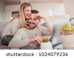 close up of young couple... | Shutterstock . vector #1024079236