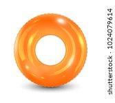 swim ring. inflatable rubber... | Shutterstock .eps vector #1024079614
