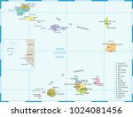 cape verde map   high detailed... | Shutterstock .eps vector #1024081456