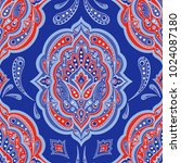 floral indian paisley pattern...   Shutterstock .eps vector #1024087180