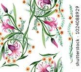 wildflower ornament flower... | Shutterstock . vector #1024088929