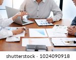 business audit discussing data... | Shutterstock . vector #1024090918