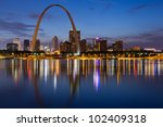 City Of St. Louis Skyline....