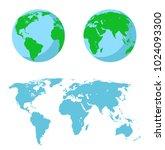 vector illustration set   map...   Shutterstock .eps vector #1024093300