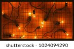 decorative grid frame and... | Shutterstock . vector #1024094290