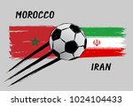 flags of morocco and iran  ...   Shutterstock .eps vector #1024104433