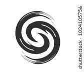 initial s zen refresh symbol... | Shutterstock .eps vector #1024105756