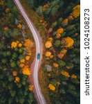 a swedish road | Shutterstock . vector #1024108273