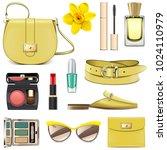 vector yellow fashion...   Shutterstock .eps vector #1024110979