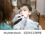 dentist is treating a boy's... | Shutterstock . vector #1024113898