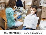 dentist is treating a boy's... | Shutterstock . vector #1024113928