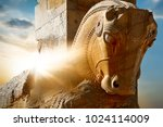 stone sculpture of a horse in... | Shutterstock . vector #1024114009