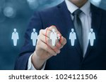 businessman chooses the... | Shutterstock . vector #1024121506