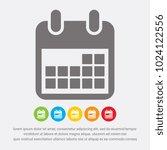 calendar icon   vector | Shutterstock .eps vector #1024122556
