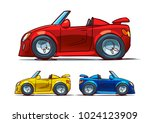 sports car side view isolated... | Shutterstock .eps vector #1024123909