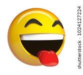 lol emoji  laughing face... | Shutterstock . vector #1024127224
