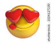 falling in love emoji  heart...   Shutterstock . vector #1024127230
