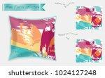 interior design textile... | Shutterstock .eps vector #1024127248