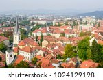 aerial view of the historic... | Shutterstock . vector #1024129198
