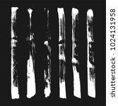 set of grunge brush. ink black... | Shutterstock .eps vector #1024131958